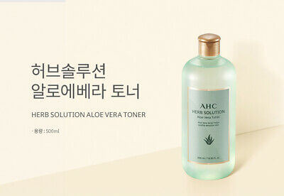 AHC Herb Solution Toner Тонер с экстрактом алоэ вера, 500мл.
