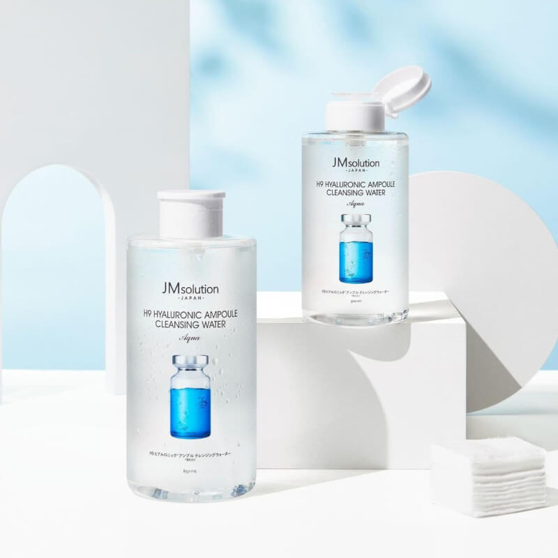JM solution H9 Hyaluronic Ampoule Cleansing Water Гиалуроновая очищающая вода, 850мл